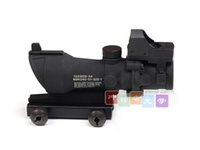 Shotgun acog reflex sight - Trijicon ACOG TA31 Type x32 Crosshair Sight Scope w Fiber w Brightness Sensitive Reflex Docter Red Dot Sight GL X32C2 Tan