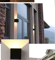 Wholesale Outdoor wall lamp waterproof outdoor balcony corridor creative contracted and contemporary hotel stairs LED wall lamp wall lamp