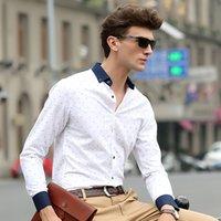 Wholesale Men shirt long sleeve Lapel Large fit Luxury New Autumn Summer styles Casual fashion Camisa masculina Fishbone Pattern shirt Sizes