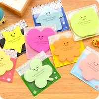 Wholesale 1 Cute Paper Sticky Notes Memo Pads Lovely Shape Notebook Sticker Label For Girls Students Gifts