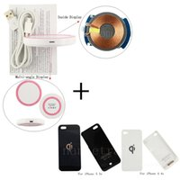 Cheap For iPhone 4 4S 5 5s Qi Wireless Charger Pad + Wireless Charging Receiver Cover Case
