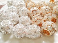 aa jewelry rings - AA luxurious MM Silver Gold Rhinestones Alloy Big Hole Beads Jewelry Accessories Findings