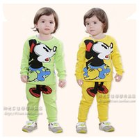 baby clothes online - korean spring and autumn baby clothing set minnie mouse children cotton long sleeved track suit two pieces online baby shopping