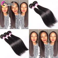 Cheveux vierges indigènes 3pcs / lot cheveux droits humains tissés grade 7a naturel noir indigène cheveux brins cheveux extension 100g / pcs 8-32 pouces