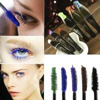 best purple mascara - New colorful Waterproof mascara blue purple black green brown best rimel charming longlasting makeup
