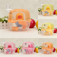 Wholesale New Transparent Plastic Hamster Gerbil Mouse House Level Hamster Cage Cute Gerbil Mouse Playhouse Nest