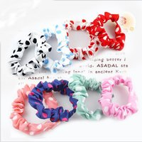 indian head rings - Headwear head flower hair jewelry Korean version sweet candy color cloth art Polka Dot hair ring hair rope Rubber band for female