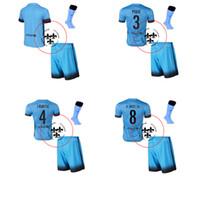 good shirts - 2016 Barcelona Soccer Uniforms Messi Blue Third Away Full Sets Football Shirts Shorts Socks Good Quality Camisetas De Futbol