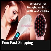 Wholesale Professional Antomatic LCD Hair Straightener Comb Styling Machine Digital Perm Machine Electric Hair Straightening Comb