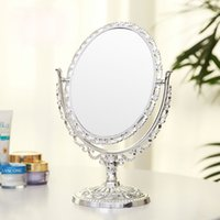 Wholesale Household small mirror makeup mirrors compact cosmetic mirror lady s Double Sided alloy metal table dresser desktop espelho
