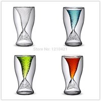 Wholesale ml Creative personality mermaid handmade glass cup ice cream cup double high temperature glass of red wine