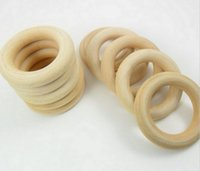baby tongue - 5 mm Teething Ring round Natural Wood Beads toys for baby smooth Unfinished Wood Ring Maple goodfor health Z1315