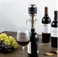 Wholesale 2016 Wine Pourers Gift Bar Top Fashion Metal Wine Aerator Vin Jigger Fast Decanters Electronic Air Instantly Sober Up Grape Is