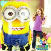 HOT vente 5pcs / lot super-grands Despicable Me Fleuret ballons gonflables minions jumbo fournitures ballons de fête de grande taille 65 * 92 cm