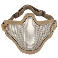 Wholesale High Quality Lower Half Section Airsoft Hunting Half Face Metal Net Mesh Protect Mask Covers From The Nose To Your Chin