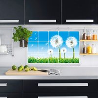 Cheap Smoke dancingly oil paste wall stickers kitchen tile aluminum oil