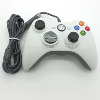 Precio de Blanco xbox palanca de mando-El USB blanco negro del envío libre ató con alambre la joyería de Gamepad Joypad de Gamepad Joypad para la computadora accesoria delgada de Windows 360 de la PC de Xbox 360