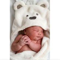 Wholesale 2014 New HE Practical Newborn Infant Swaddling Unisex Baby Blanket Boy Girl Cartoon Blanket Coral Fleece EH