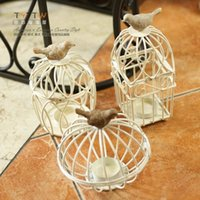Christmas new Yes European-style Mediterranean decoration to wrought iron candle holders retro style bird cage wedding accessories candlestick