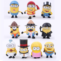 Wholesale Hot Sale New set Despicable Me PVC toys doll minions Movie Character Figures hand to do toys Doll Toy