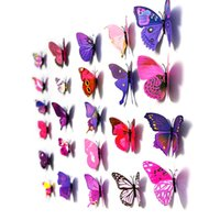 Wholesale S5Q Home Decor D Wall Stickers x Butterfly Art Design Decal Room Decorations AAAEJE
