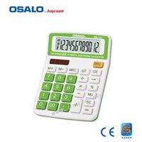 big digit calculator - Electronic Digits Large Key Big Size Desktop Calculator OS C Solar Calculadora Dual Power Perfecf For Home Office Use