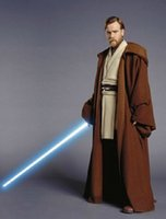Wholesale New Star Wars Costume Jedi Knight Robes Cosplay Cloak Cape Costume S M L XL Can Be Custom Made