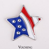 Wholesale DIY Jewelry Accessory Five Pointed Star Style Ginger Snaps Buttons Jewelry Vn