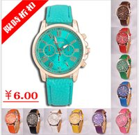 battery time left - US PC New Hot Sale Fashion Casual summer style Women Geneva Leave Three Soft PU Strap Watches