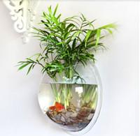 acrylic aquariums - Hot Sale CM Fashion Creative Acrylic Fish Tank Wall Hanging Transparent Plexiglass Aquarium