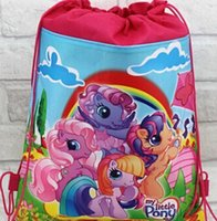 best little bags - My Little Pony Kids Drawstring Backpack Bags School Shopping Bags Kids Christmas Best Gift Party Favor