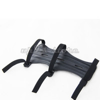 archery arm guard - Black CM Length With Strap PU Leather Shooting Archery Arm Guard Protection Safe Guard
