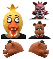 Wholesale five nights at freddy s cosplay masks FNAF cosplay masks FNAF Foxy Chica Bonnie Freddy Rubber Latex Mask
