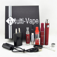 Cheap Evod Starter Kit Ecig 4 in 1 Dry Herbal Vaporizer E Cigarette Starter Kits With MT3 Ago G5 Wax Tank Thick oil Atomizers