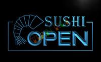 cafe lights - LB027 TM OPEN Sushi Bar Cafe Business Pub Neon Light Sign Advertising led panel jpg