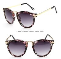 promotion sunglasses - 2015 Fashion Vintage Floral Women Sunglasses Sexy Elegant O Style Nice Sunglasses Promotion Retail Cheap Sunglasses TSG024