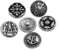 antique button hooks - NOOSA Amsterdam mm antique silver vintage noosa Interchangeable Snap Buttons DIY Accessory Ginger Snap Jewelry in styles B508