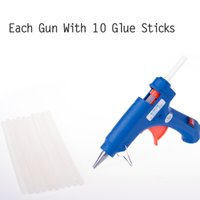 Wholesale Handy Professional High Temp Heater Hot Glue Gun W v v With mm Glue Stick Versatile DIY Embroidery Craft Tool Supply