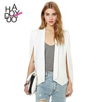 Wholesale Haoduoyi unique slitting sleeve design women slim suit coat for and