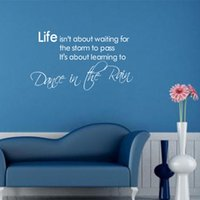 Wholesale 23 Dance In The Rain Wall Tattoo Removable Wall Quote D House Decor Viny Decals ZYPA