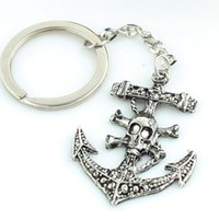 anchor custom jewelry - The jewelry trade creative explosion metal keychain rudder anchor lovers Keychain ornaments custom