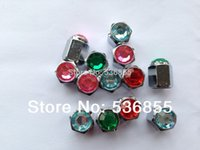Wholesale high quality hex shape car tire valve cap stem brass material with colorful Diamond on the top polybag Promotion