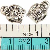 big east sports - Jewelry Findings European Beads Pandora Charms Bracelets DIY Big Hole East Buddha Smile Silver Tone Metal Free Ship Wholesales mm