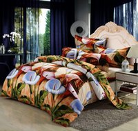 american denim bedding - 3D Active Brushed Denim Bedding Set European and American Effil Printed for M Bed Queen Quality