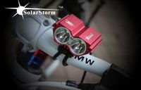 Wholesale SolarStorm lm xCREE XM L U2 LED Front Bicycle Bike Light Lamps x v Battery Pack Charger