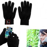 Wholesale Touch Screen wireless Calling Talking Gloves Hand Gesture earphone with Speaker Microphone Bluetooth Headphone for moblie phones