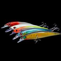 3d lure eyes - 1PC Colors g cm Plastic Minnow Fishing Hard Lure D Eyes fish Baits CrankBait Tackle Treble Hook Pesca Diving m H14551