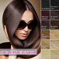 24 inch clip in human hair extensions - 24 Inch Remy Human Hair sets Straight Clip In Hair Extensions DHL