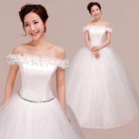 wedding grown dress - Plus Size Wedding Dress New Sweet Wedding Dresses Latest Fashion Korean Wedding Dress Bried Grown Lace HS004