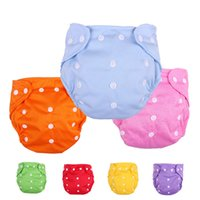 Wholesale Reusable Soft Breathable Fabric Mesh Washable Thin Type Cloth Diaper Cute Stretchy Practical Nappy for Baby Toddler